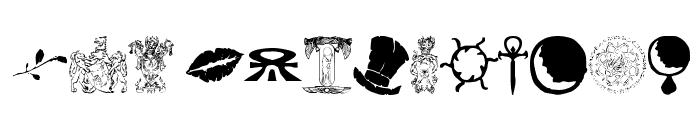 WW Vampire Sigils Font LOWERCASE