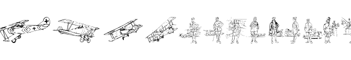 WW1 Planes Font LOWERCASE