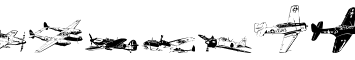 WW2 Aircraft Font UPPERCASE