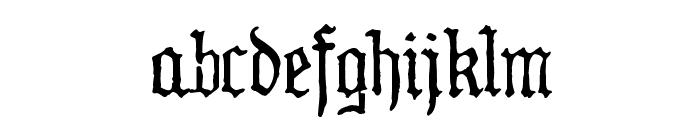 WW2 BlackltrAlt HPLHS Font LOWERCASE