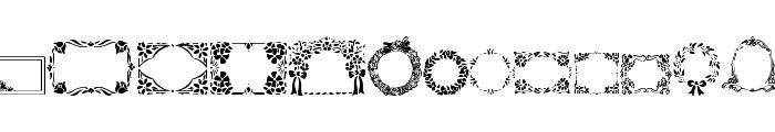 WWFloralGreetings Font LOWERCASE