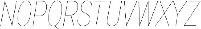 Wyvern UltraLight Italic otf (300) Font UPPERCASE