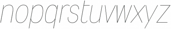 Wyvern UltraLight Italic otf (300) Font LOWERCASE