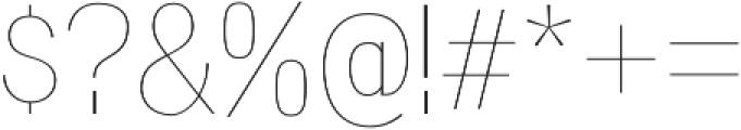 Wyvern UltraLight otf (300) Font OTHER CHARS
