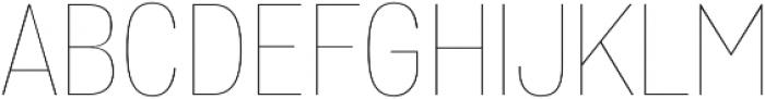 Wyvern UltraLight otf (300) Font UPPERCASE