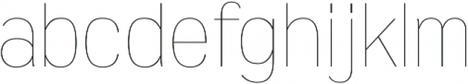 Wyvern UltraLight otf (300) Font LOWERCASE