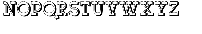 Wyoming Macroni Shadowed Right Font UPPERCASE