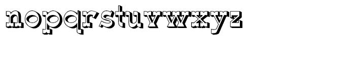 Wyoming Macroni Shadowed Right Font LOWERCASE
