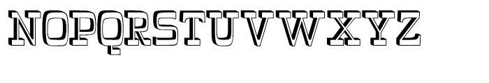 Wyoming Pastad Shadowed Left Font UPPERCASE