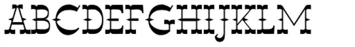 Wyoming Macroni Pegged Font UPPERCASE