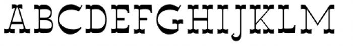 Wyoming Macroni Shadowed Inside Font UPPERCASE