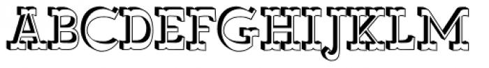 Wyoming Macroni Shadowed Font UPPERCASE