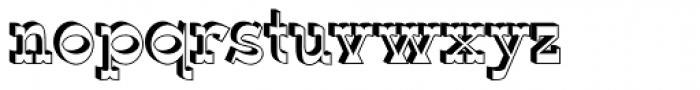 Wyoming Macroni Shadowed Font LOWERCASE
