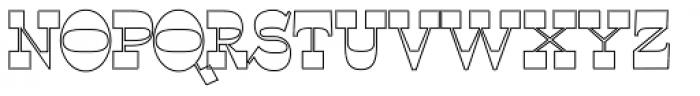 WyomingSpaghetti Outlline Bold Font UPPERCASE