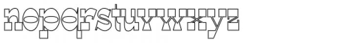 WyomingSpaghetti Outlline Bold Font LOWERCASE