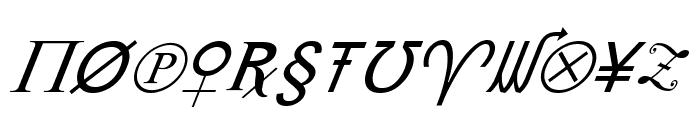 X-Cryption Italic Font UPPERCASE