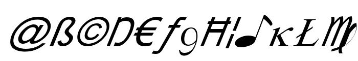 X-Cryption Italic Font LOWERCASE