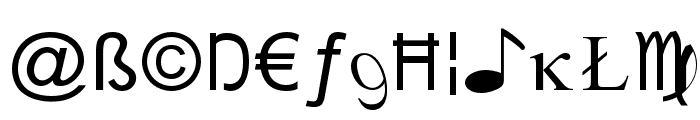 X-Cryption Font LOWERCASE