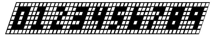 X-Grid Italic Font OTHER CHARS