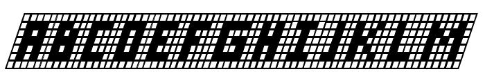 X-Grid Italic Font UPPERCASE