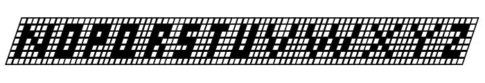 X-Grid Italic Font LOWERCASE