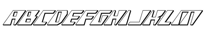 X-Racer 3D Italic Font UPPERCASE