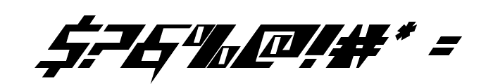 X-Racer Italic Font OTHER CHARS