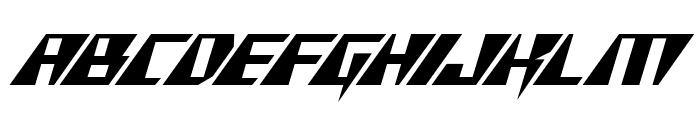 X-Racer Italic Font LOWERCASE