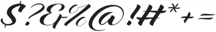 Xandra Script Regular otf (400) Font OTHER CHARS