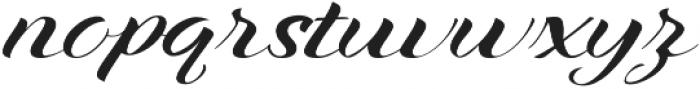Xandra Script Regular otf (400) Font LOWERCASE