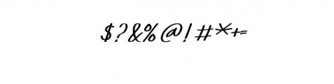 XabiyaItalic.ttf Font OTHER CHARS
