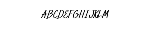 XabiyaItalic.ttf Font UPPERCASE
