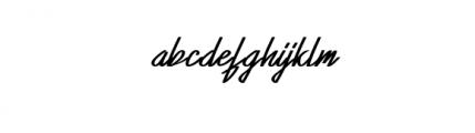 XabiyaItalic.ttf Font LOWERCASE