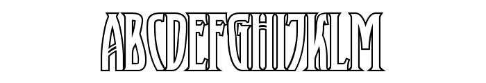 XAyax Outline Font UPPERCASE