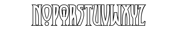 XAyax Outline Font LOWERCASE