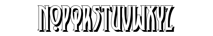XAyax Schatten Font UPPERCASE
