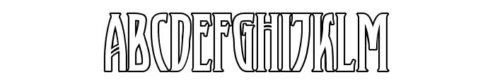 XAyaxOutline Font UPPERCASE