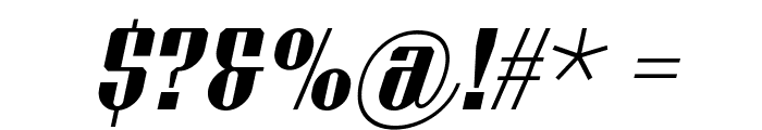Xacose Italic Font OTHER CHARS