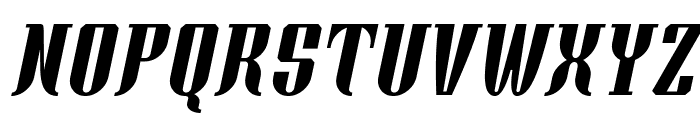 Xacose Italic Font UPPERCASE
