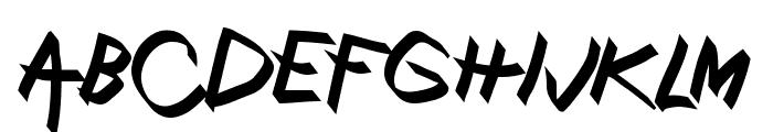 Xaligraphy BoldItalic Font UPPERCASE