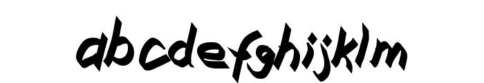 Xaligraphy BoldItalic Font LOWERCASE