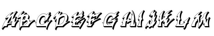 Xanax Font UPPERCASE