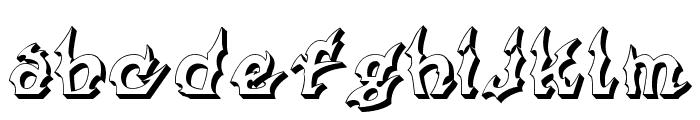 Xanax Font LOWERCASE