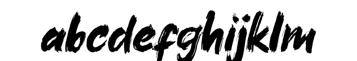 Xangda Shiny Font LOWERCASE