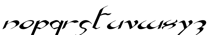 Xaphan Expanded Italic Font LOWERCASE