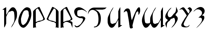 Xaphan Expanded Font UPPERCASE