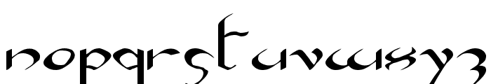 Xaphan Expanded Font LOWERCASE