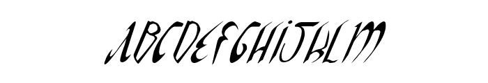 Xaphan II Condensed Italic Font UPPERCASE