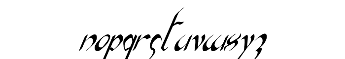 Xaphan II Condensed Italic Font LOWERCASE