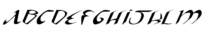 Xaphan II Expanded Italic Font UPPERCASE